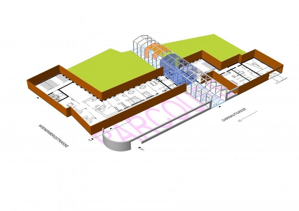 Darnautgasse architekten froetscher lichtenwagner for Architektur axonometrie